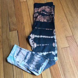 464d1d7ea5e025 Jala Clothing Pants - Jala Clothing crystal capri tie dye leggings